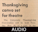 Thanksgiving, tradition, and the university