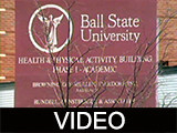 Ball State University Health and Physical Activity Building footage