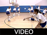 Burris Laboratory School girls' volleyball practice, 1995