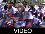 1999 Ball State University Homecoming Bed Race and Parade