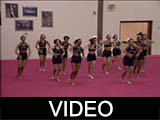 Ball State University POM Squad interview and practice