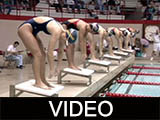 Ball State University women's swimming and diving meet