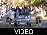 1996 Ball State University Homecoming bed race and parade