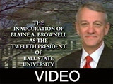 Inauguration of Ball State University President Blaine Brownell