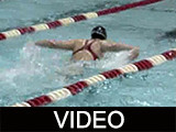 Ball State University women's swimming meet