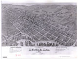 Birds eye view of Muncie, Ind. 1872