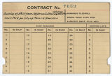 Contract card for Louis Peck (Muncie, Indiana)
