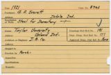 Contract card for G.A. Everett (Indianapolis, Indiana)