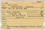 Contract card for Leslie Colvin (Indianapolis, Indiana)