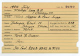 Contract card for Phillips, Lang and Company (Chicago, Illinois)