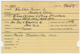 Contract card for Ohio Power Company (Newark, Ohio)