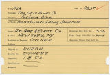 Contract card for Ohio Power Company (Fostoria, Ohio)