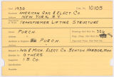 Contract card for American Gas and Electric Company (New York, New York)