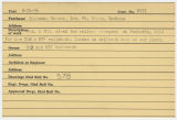 Contract card for Ruckman-Hansen, Inc. (Fort Wayne, Indiana)