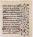 Illuminated leaf from Book of hours