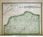 Map of Clinton Township (Cass County, Indiana), including Clymer P. O., Indiana map