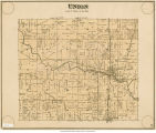 Map of Union Township (Delaware County, Indiana)