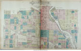 Part of the city of South Bend, Indiana and environs map: Part of sections 11 and 12