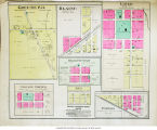 Greene P. O., Blaine, Liber, Bellefountain, College Corner, Brice, and Powers, Indiana maps