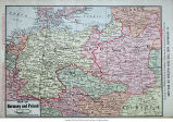 Map of Germany and Poland