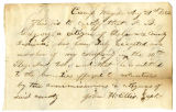 Letter by Capt. John H. Ellis, regarding enlistment of A. B. Gregory