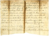 Letters by Capt. John H. Ellis and Benjamin Jackson, regarding enlistment of John W. Jackson