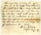Letter by Capt. John H. Ellis, regarding enlistment of John Brandt
