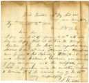 Letter from Capt. John H. Ellis to J. W. Burson, regarding assignments of Moses Gunion, James...