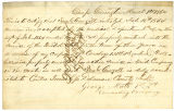 Letter from 1st Lt. George Muth, regarding enlistment of Samuel G. Cowgill