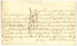 Letter from 1st Lt. George Muth, regarding enlistment of John L. Berry