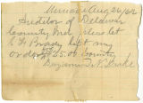 Letter from Benjamin N. Drake to Auditor of Delaware County, regarding soldiers county bounty for...