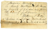 Letter by Wilson P. Lacy, regarding soldiers' county bounty for Wilson P. Lacy