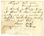 Letter from Isaac Shaw, regarding soldiers' county bounty for Isaac Shaw