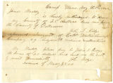 Letter from John G. Ridge, regarding soldiers' county bounty for John G. Ridge
