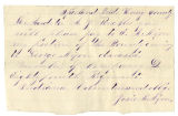 Letter from Josie M. Nixon to A. J. Buckles, regarding transfer of soldiers' county bounty for...
