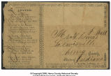 Envelope addressed to Thomas J. Ball