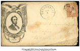 Envelope addressed to Aramenta Rader from George Washington Rader