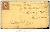 Envelope addressed to George Washington Rader
