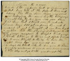 Letter from James P. Hall to George Washington Rader