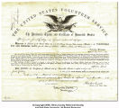 Certificate of Honorable Service and Presidential Thanks for Sergeant Jacob Reading