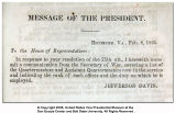 Message of the President (Confederate)