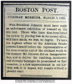 Newspaper article accusing President Andrew Johnson of drunkenness at his inaugural ceremony