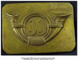 Civil War era musician's belt buckle