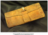 Civil War era leather wallet