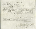 Application for discharged soldiers' county bounty - Affidavits of Jared W. Hines and Edward W....