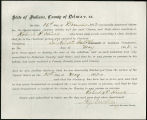 Application for discharged soldiers' county bounty - Affidavit of Robert P. Hines, for Robert P....