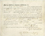 Application for deceased soldiers' county bounty - Affidavit of Eleanor Innes, for George S. Innes