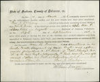 Application for discharged soldiers' county bounty - Affidavits of Thomas J. Brady and William R....