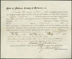 Application for deceased soldiers' county bounty - Affidavit of Lydia Jackson, for Nathaniel...