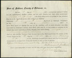 Application for discharged soldiers' county bounty - Affidavit of William N. Jackson, for William...